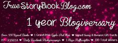 True Story Book Blog One Year Blogiversary giveaway!