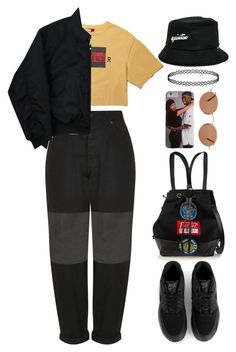 """bump it up"" by mikaylaperrine ❤ liked on Polyvore featuring Boutique, kangol, Opening Ceremony, NIKE and Oliver Peoples"