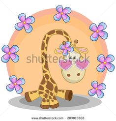 Stock Images similar to ID 196425005 - cute cartoon rabbit with flowers