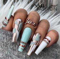 Fabulous Nails, Perfect Nails, Gorgeous Nails, Pretty Nails, Glam Nails, Hot Nails, Beauty Nails, Nail Design Stiletto, Luxury Nails