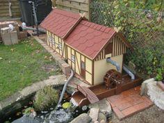 Schöne Wassermühle für den Garten - auch toll zum Nachbauen!