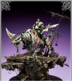 toycutter: Warhammer: Plague Knight on Juggernaut Mini Paintings, Cool Paintings, Warhammer Fantasy, Warhammer 40k, Funny Animal Jokes, Funny Animals, Plague Knight, Art Station, Fantasy Miniatures
