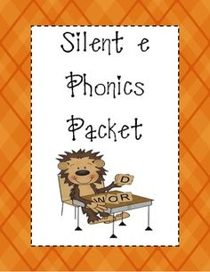 Silent E Phonics Packet- good for extra help homework