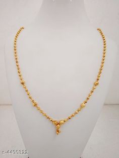 Necklaces & Chains Women's Brass Gold Plated Necklaces & Chains Base Metal: Brass Plating: Gold Plated Stone Type: Artificial Beads Sizing: Adjustable Type: Chain Multipack: 1 Sizes: Country of Origin: India Sizes Available: Free Size   Catalog Rating: ★4.1 (1196)  Catalog Name: Women's Brass Gold Plated Necklaces & Chains CatalogID_648491 C77-SC1092 Code: 702-4490322-234