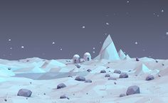 Low Poly Ice Landscape on Behance