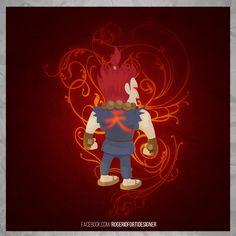 Rogério Forti on Behance  Akuma - Street Fighter