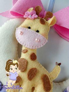Le creazioni di Sarlilla: Fiocco nascita giraffa su luna