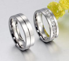 Wedding/Engagement Rings for Her/ Him Platinum Plated Couple Engagement Ring