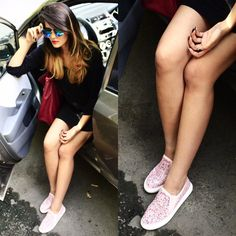 The F-Drug's, Shivani confidently steps out in a pair of #RomanceOnTheStreet by #INTOTO #INmyshoes
