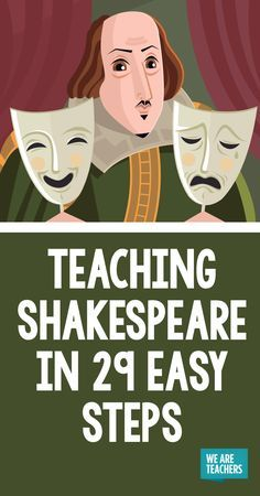 Teaching Shakespeare in 29 Easy Steps - WeAreTeachers Teaching Shakespeare this year? To laugh or not to laugh, there is no question. This post will make you LOL through the pain! Drama Education, Education English, Teaching English, Teaching High Schools, Teaching Theatre, High School Classroom, English Classroom, English Teachers, Classroom Ideas