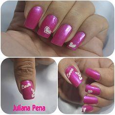 Nails Art Pink Love