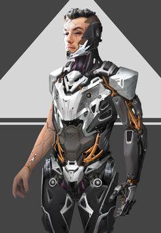 Symbiosis /Main hero concept variations , Max Gavr on ArtStation at https://www.artstation.com/artwork/2LZ3y