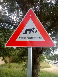 Drunken People Crossing: do they get tickets if they don't use this crosswalk?