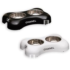 Chanel dog bowls.