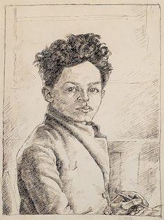 Alberto Giacometti, Self-Portrait, 1918