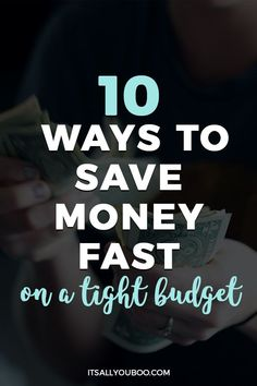 10 Ways to Save Money Fast on a Tight Budget Make More Money, Ways To Save Money, Money Tips, Money Saving Tips, Money Hacks, Grocery Savings Tips, Budget Spreadsheet, Thing 1, Managing Your Money