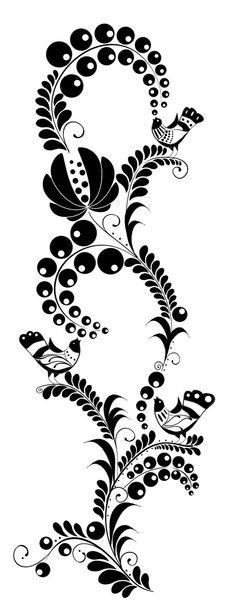 Folk Embroidery Patterns Zohara - Hungarian folk art pattern design by Anna M., via Behance - Hungarian Embroidery, Folk Embroidery, Embroidery Patterns, Pattern Art, Pattern Design, Art Patterns, Polish Folk Art, Illustration Blume, Scandinavian Folk Art