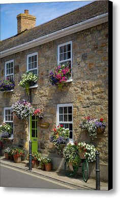 Photographic Print: Entrance to Smugglers Bed and Breakfast in Marazion, Cornwall, England by Brian Jannsen : Garden Cottage, Cozy Cottage, Cottage Homes, French Cottage, Cottage Style, Beautiful Homes, Beautiful Places, Stone Houses, English Countryside