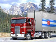 -Optimus Prime - Autobot (Leader) - 1970s Freightliner FL86 Cab-over ...