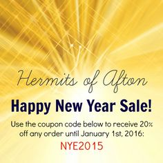 Hermits of Afton Etsy Shop Sale - 20% off any purchase - NYE2015
