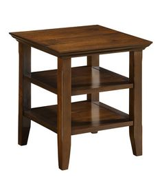 Look what I found on #zulily! Tobacco Brown Acadian End Table #zulilyfinds