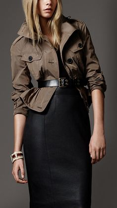 Burberry ~ Simple chic.