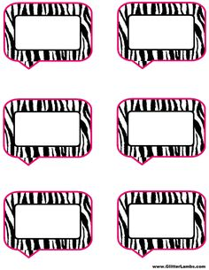 Pink and Zebra Templates Free | Free Printable Pink Zebra Birthday Party Food Label Cards