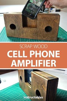 Create a cell phone amplifier using scrap wood and power tools or hand tools. Create a cell phone amplifier using scrap wood and power tools or hand tools. Wood Projects For Beginners, Small Wood Projects, Scrap Wood Projects, Wood Working For Beginners, Diy Projects, Outdoor Projects, Woodworking Projects That Sell, Woodworking Books, Woodworking Workshop