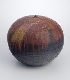Toshiko Takaezu | Untitled Pink/Purple/Brown, c. 1980, Stoneware