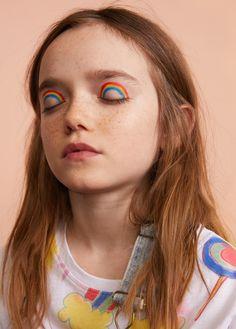 Fantasy printed T-shirt - My favorite children's fashion list Eye Makeup, Makeup Art, Hair Makeup, Makeup Inspo, Makeup Inspiration, Maquillage Halloween, Aesthetic Makeup, Child Models, Face Art