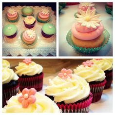 Pauline Bakes: Girly, Floral Cupcakes