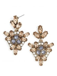 Crystal Holy Drop Earrings. Buy them - http://jumkey.com/shop/all-earrings/crystal-holly-drop-earrings/