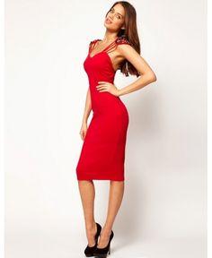 red mistress. sexy but elegant dress