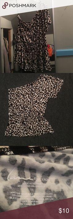 Cute lane bryant animal print off shoulder top 😍 Cute lane bryant animal print off shoulder top 😍 Lane Bryant Tops
