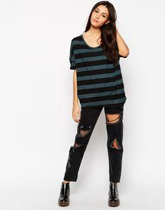 Image 4 ofThe Furies Uchi Striped Batwing T-Shirt