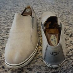 935df96de1761d Ugg Australia Bracken Gray Canvas Slip on Sneaker Loafer Men s size 10   fashion  clothing · Size 10 FashionLoafers ...