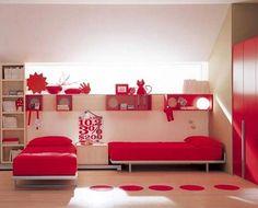 fotos de camas gemelas infantiles, la solución a problemas de espacio
