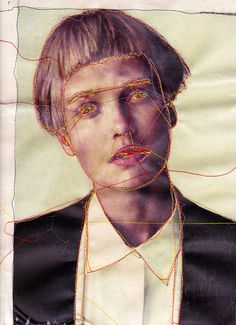 embroidery on top of a photo transferred onto material by Louise Jones, sparklymouse