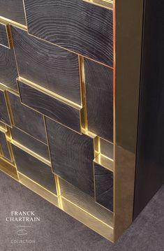 Phoenix cabinet bronze charred wood and silicified wood Wood Furniture, Furniture Design, Furniture Logo, Furniture Vintage, Wall Design, House Design, Douglas Fir Wood, Charred Wood, Bronze