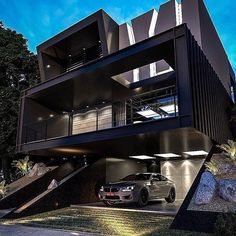 Incredible modern house design🔥 - Would you live here yes or no? Home Building Design, Home Room Design, Dream Home Design, Modern House Design, Building A House, Modern Architecture House, Architecture Design, Design Architect, Minimal Architecture