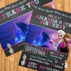 Printable Frozen Invitation & Thank You Card by CoolEtsyPrintables, $10.00