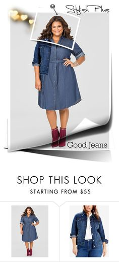 """""""Plus Denim"""" by mermadem8 ❤ liked on Polyvore featuring Ashley Stewart, Levi's, Mattia Cielo and plus size clothing"""