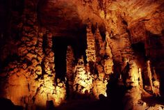 """1. Cathedral Caverns - Grant, AL: Located in Grant, Alabama, this cave is a karst cave with many large stalagmites covering about three acres. Originally called """"Bats Cave,"""" this cave was first developed as a tourist attraction in the 1950s."""