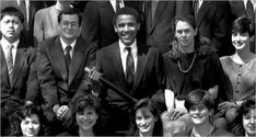 Barack Obama in 1990, when he led the Harvard Law Review.