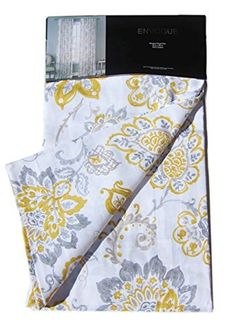 Envogue Jacobean Flowers Window Panels 50-by-96-inches Set of 2 Floral Paisley Scrolls Cotton Window Curtains Hidden Tabs Grey Yellow Ash Gray Charcoal Taupe, http://www.amazon.com/dp/B015D7BS32/ref=cm_sw_r_pi_awdm_fEJiwb1VRR48J