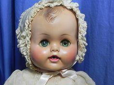 PI-Vintage Madame Alexander Kathy?baby doll+ dress& bonnet/hat /outfit w/ tag