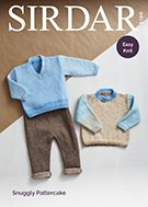 Sirdar 5190 uses Snuggly Pattercake DK yarn to knit round neck and v neck sweaters. Uses weight yarn. Sizes birth to 2 years. Knitting Patterns, Crochet Patterns, Yarn Sizes, Birth, Knit Crochet, Detail, Children, Boys, Sweaters