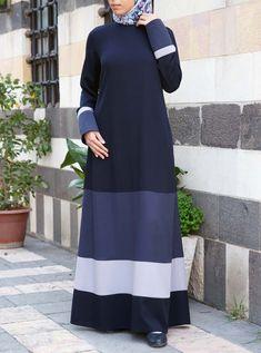Abaya Designs, Hijab Casual, Batik Muslim, Abaya Mode, Hijab Stile, Long Dress Patterns, Moslem Fashion, Hijab Evening Dress, Muslim Dress
