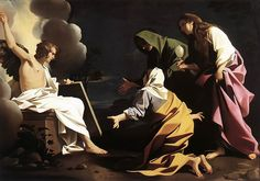 The Three Marys at the tomb (1613)  Bartolomeo Schedoni (sometimes Schedone) (1578–1615)