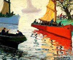 Niebla y Sol, una de las obras más famosas del pintor argentino Benito Quinquela Martín